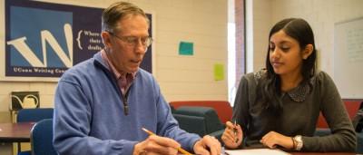 Advising at the Writing Center at the Hartford campus