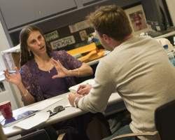 Student meeting with a faculty advisor